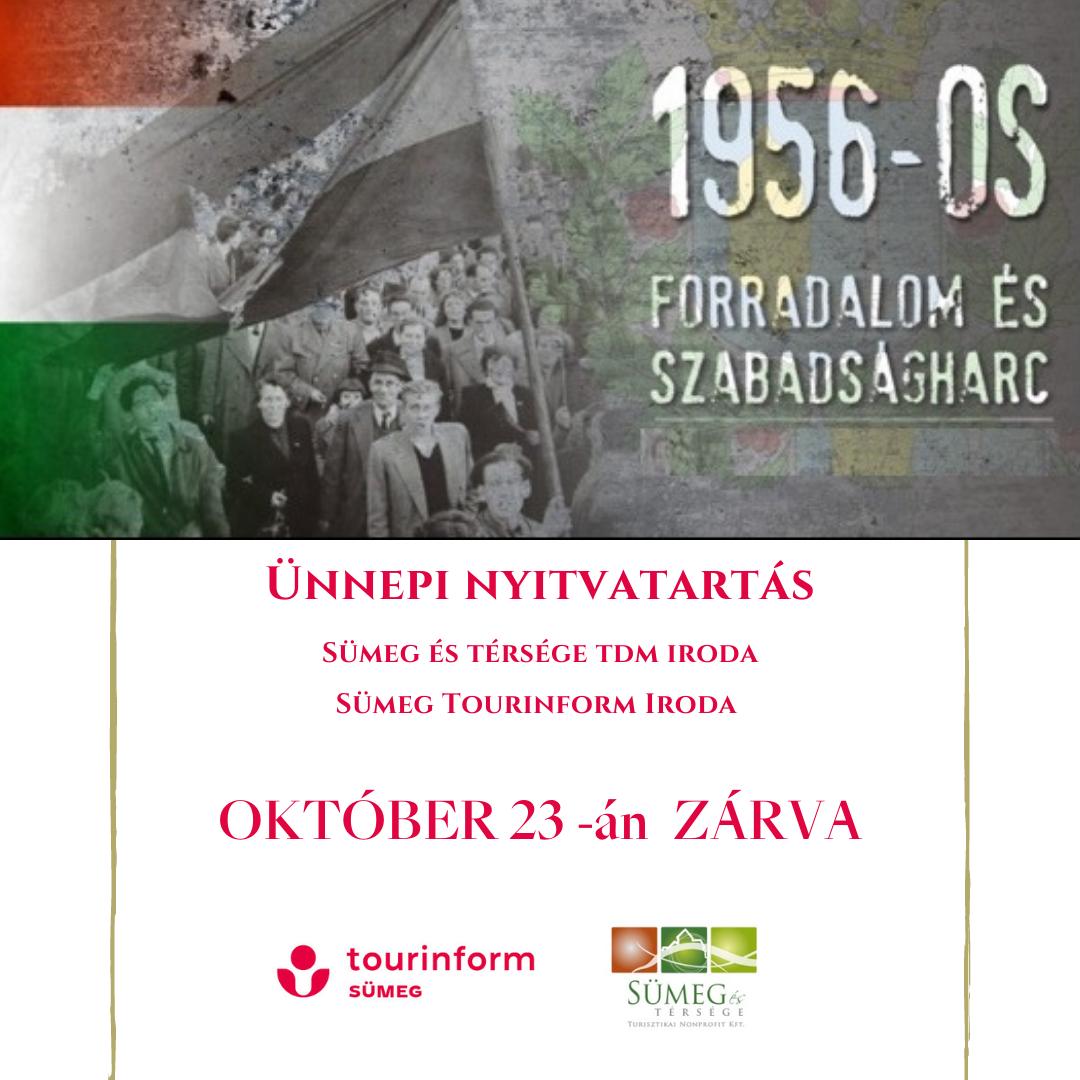 Október 23-án Irodánk zárva tart