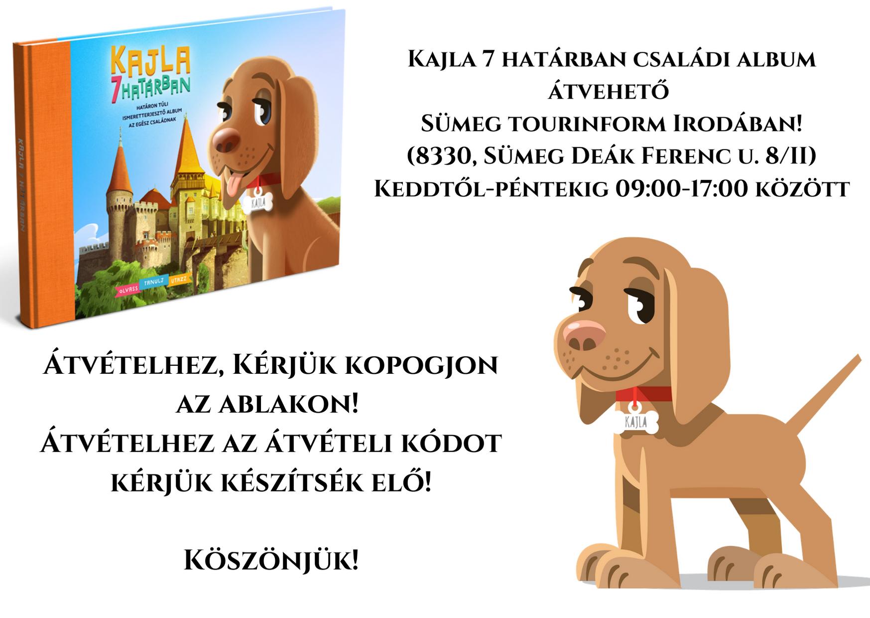 Kajla 7 határban könyvek átvétele