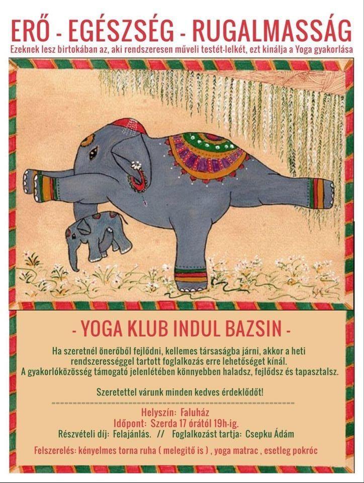 Yoga Klub indul Bazsin!