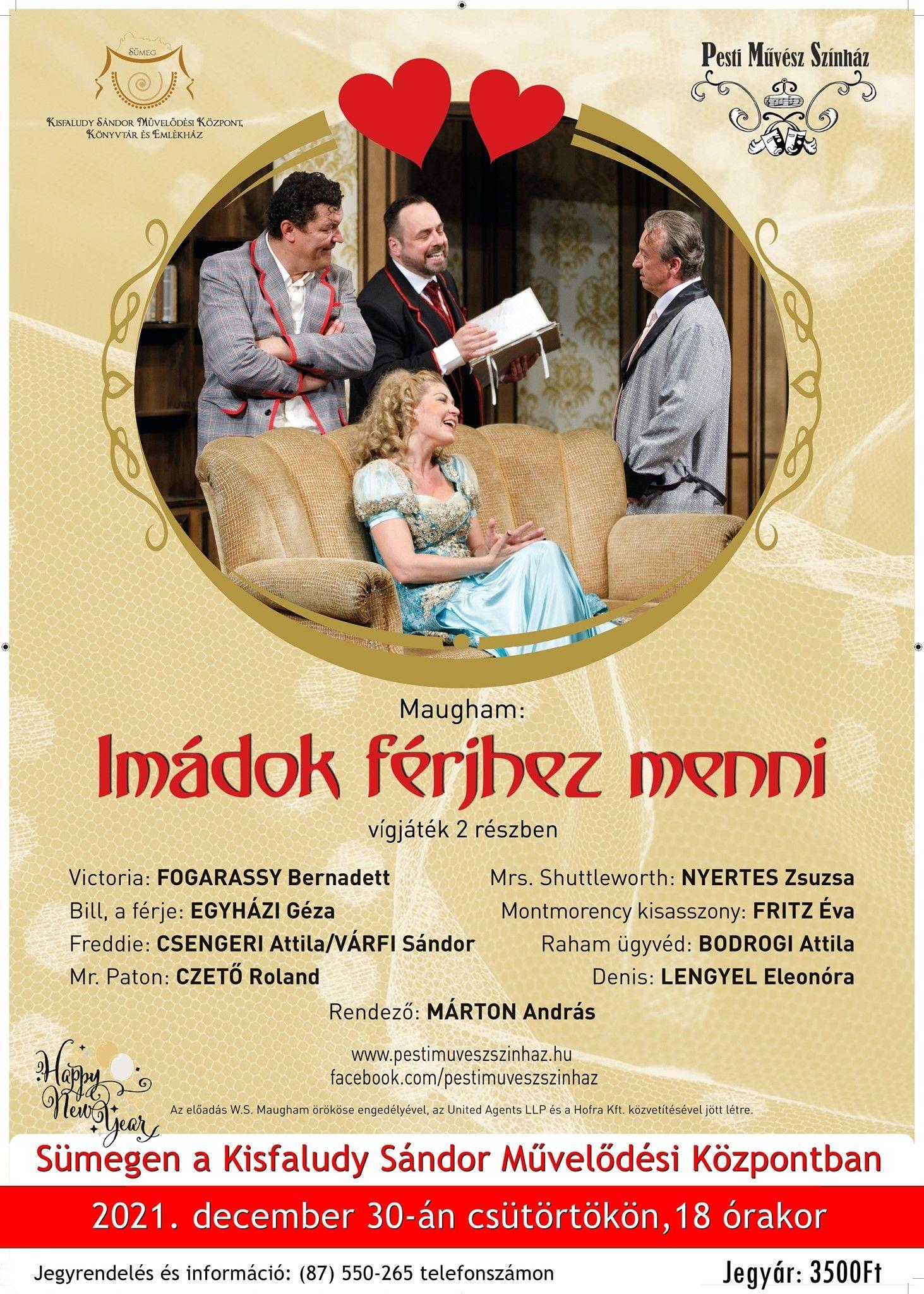 Pesti Művész Színház: Imádok férjhez menni előadása