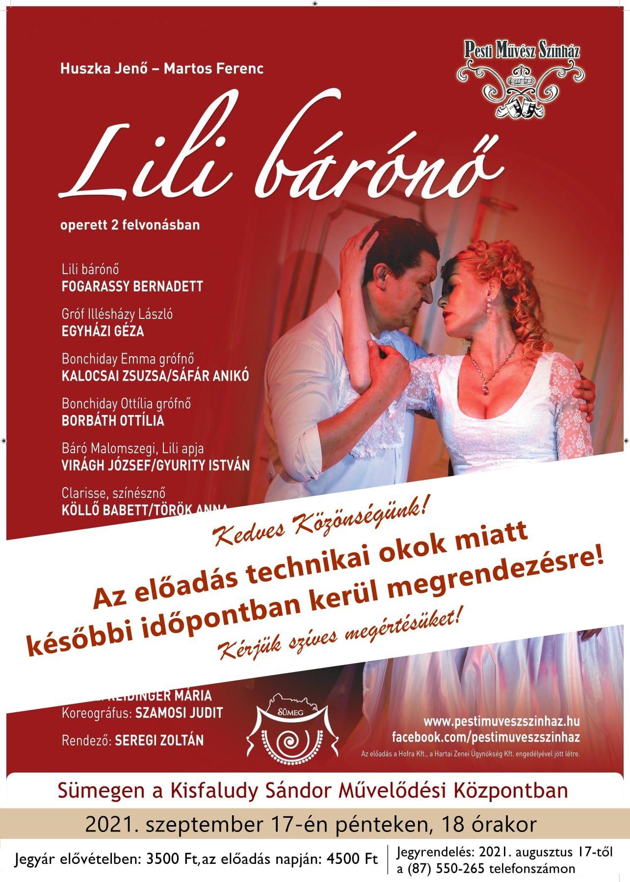 Pesti Művész Színház: Lili bárónő