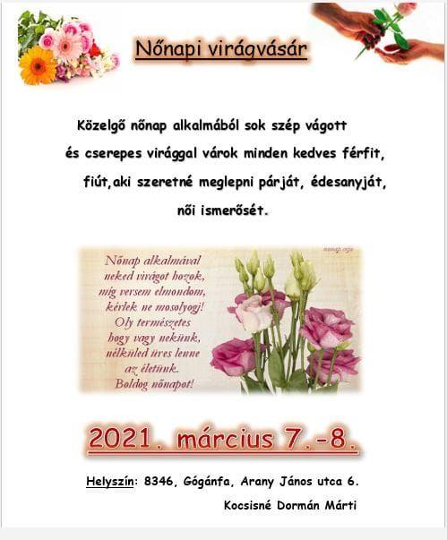 Nőnapi virágvásár