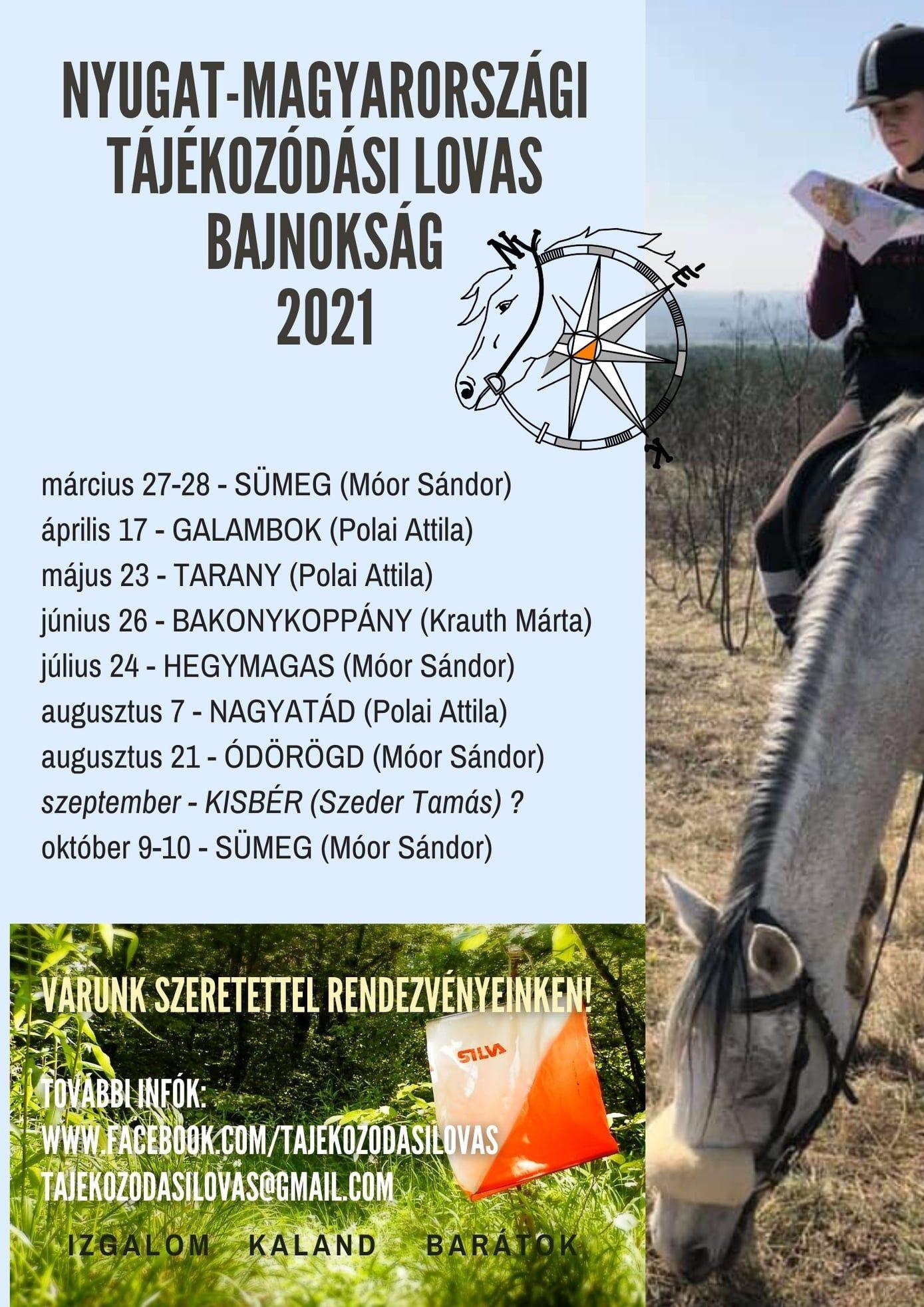 Nyugat-Magyarországi Tájékozódási lovas bajnokság 2021