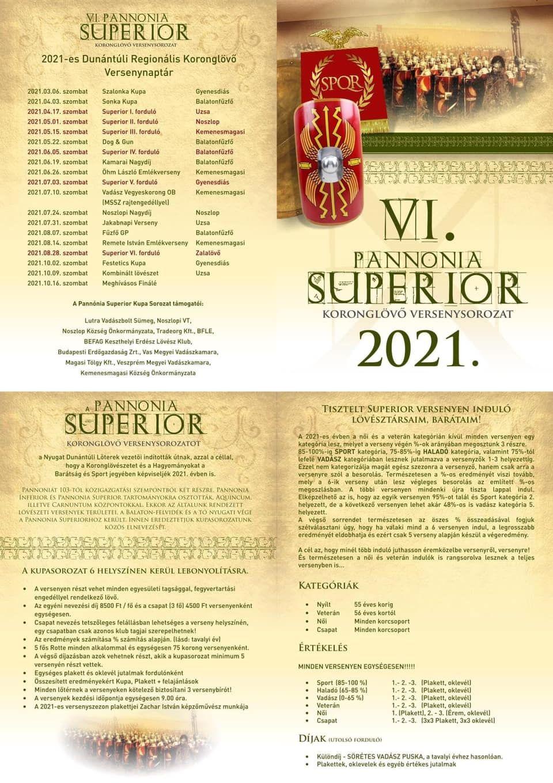 VI. Pannonia Superior Koronglövő versenysorozat-Jakabnapi Verseny