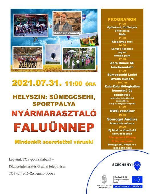 Nyármarasztaló faluünnep Sümegcsehin