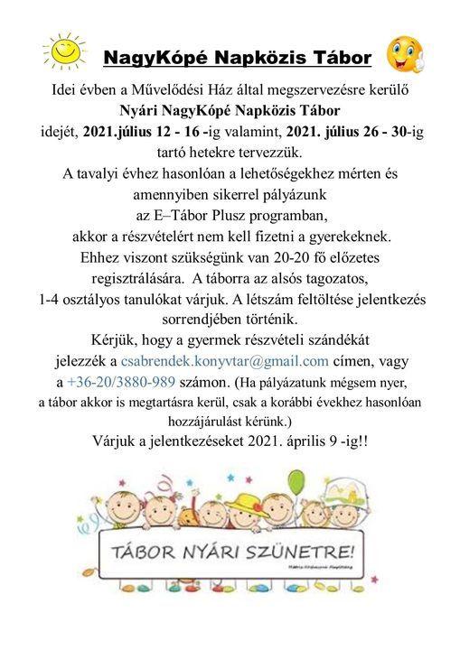 NagyKópé Napközis Tábor 2.