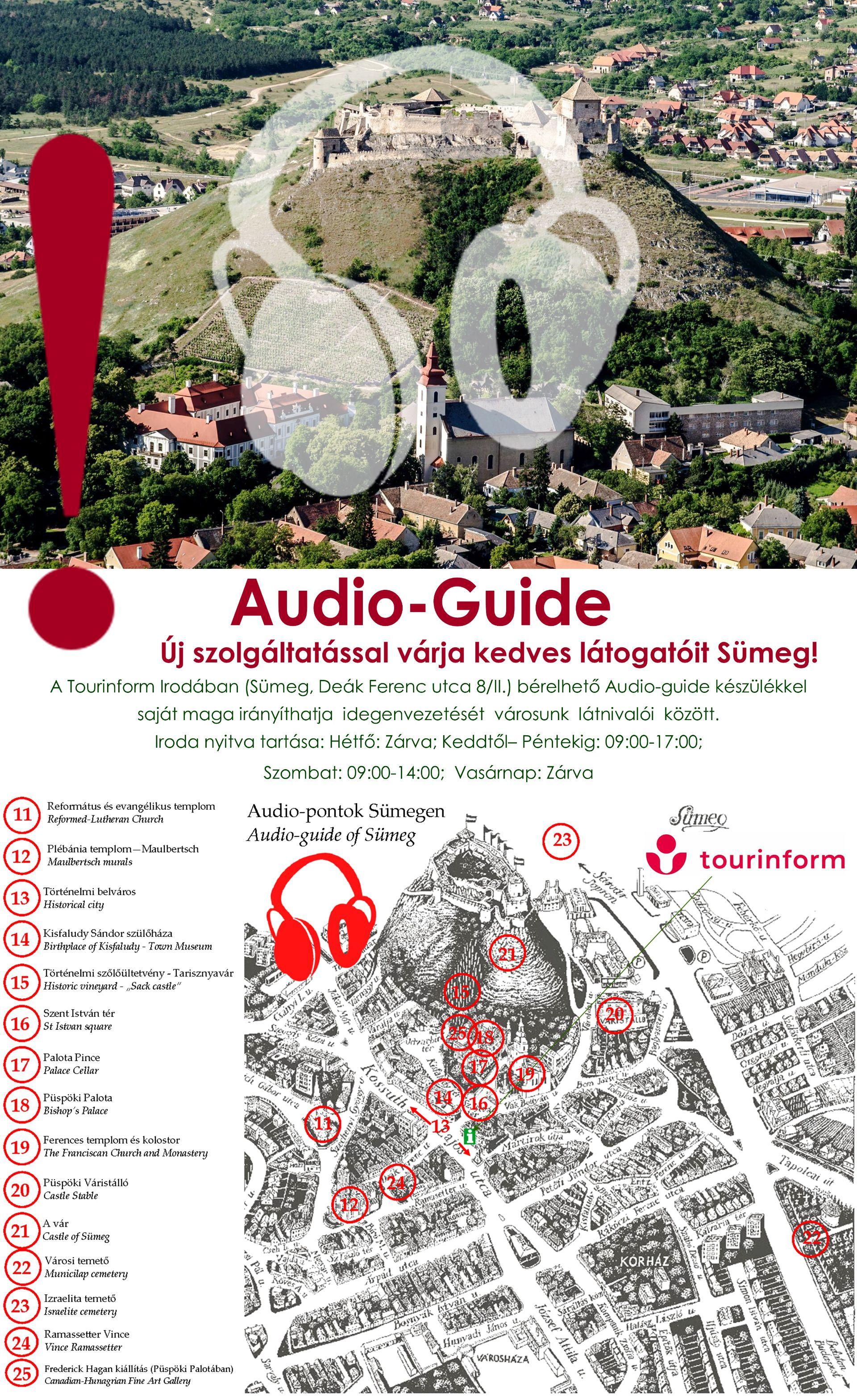 Bérelhető Audio-guide készülék